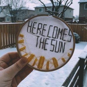 Cross-Stitch Here Comes the Sun
